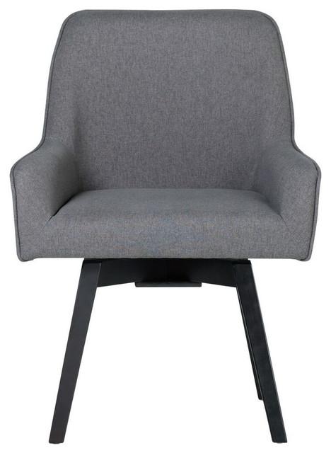 Studio Designs Home Spire Swivel Task Chair, Pewter.