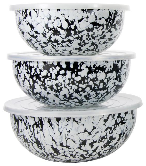 Black Swirl Mixing Bowls.