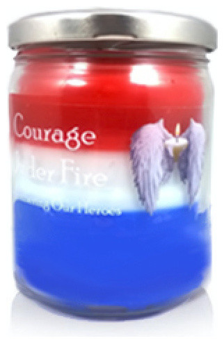 Patriotic Red White Blue Candle 16oz Traditional Candles By