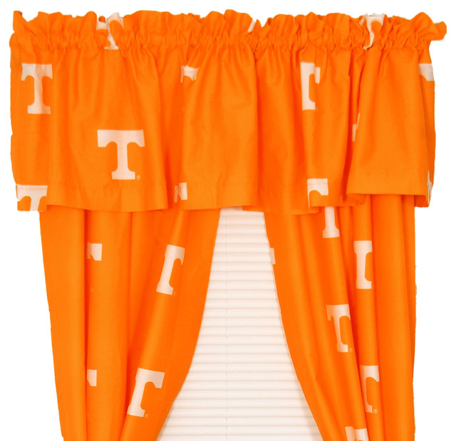"Tennessee Volunteers Printed Curtain Panels 42""x84""."