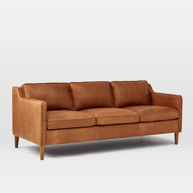 Hamilton leather sofa transitional sofas by west elm for Home style furniture hamilton