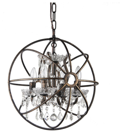 Afaura 4 Light Crystal Chandelier