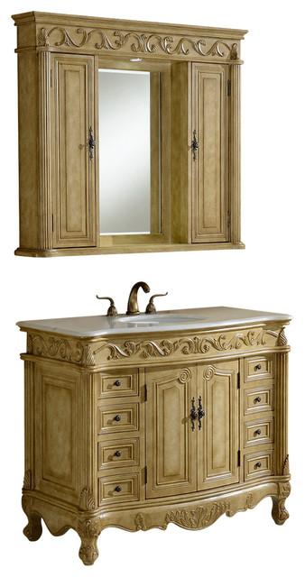 """... 42"""" Vanity With Medicine Cabinet - Bathroom Vanities And Sink Consoles"""