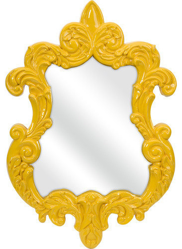 Baroque Wall Mirror, Yellow