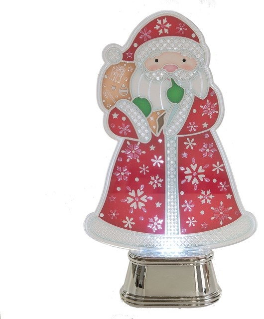 Lighted Led Flashing Santa.