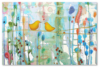 Sylvie Demers Dans Chaque Coeur Canvas Art Contemporary Prints And Posters By Trademark Global Houzz
