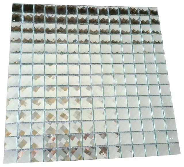 "/"" SILVO /"" Square Mirror Glass Mosaic Tile Backsplash Tiles Bath Bar Wall Room"