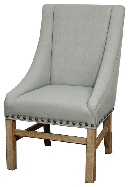 Aaron Sloping Chair, Soft Blue.