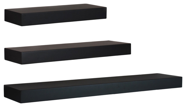 Modern Wall Shelving maine wall shelves, 3-piece set - modern - display and wall
