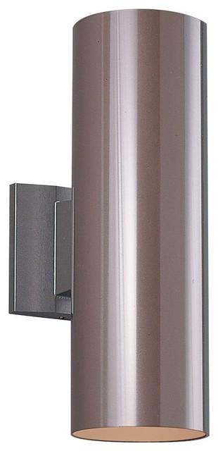 Bronze 2-Light Outdoor Wall Lantern, Tempered Glass Glass