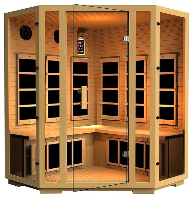 JNH Lifestyles Joyous 4 Person Corner Far-Infrared Sauna