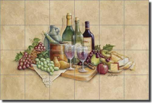 Broughton Wine G Ceramic Tile Mural Backsplash