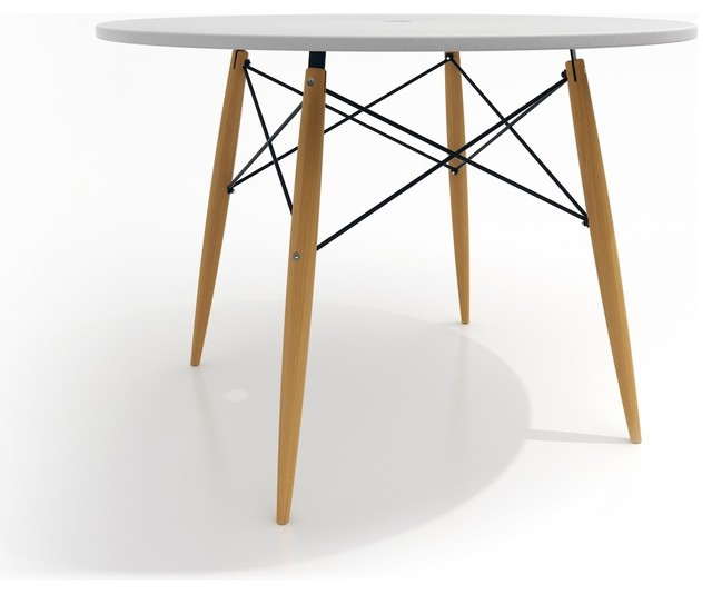 Table scandinave design ronde skoll couleur blanc for Table a manger ronde design