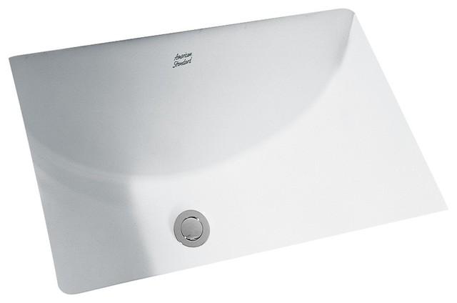 Studio Rectangular 21 quot  Undermount Bathroom Sink in White contemporary bathroom sinks. Shop Houzz   American Standard Brands Studio Rectangular