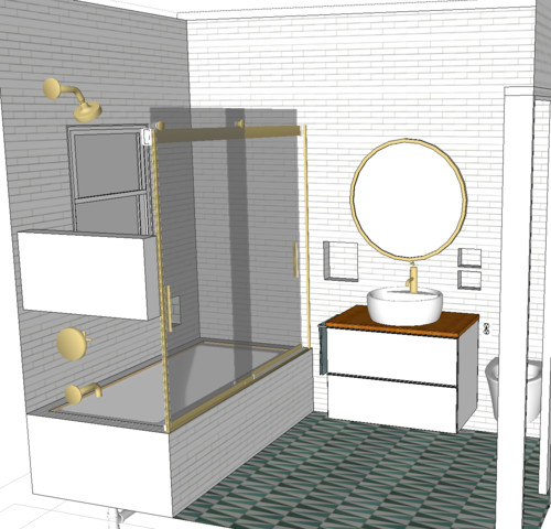 Brushed gold or brushed bronze finish for our small bathroom?