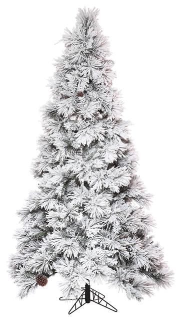 9 X59 Flocked Atka Slim Christmas Tree With 1361 Pvc Hard Needle Tips