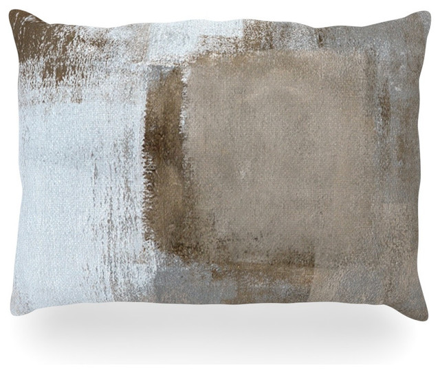 "Carollynn Tice ""calm And Neutral"" Oblong Pillow, 18""x24""."