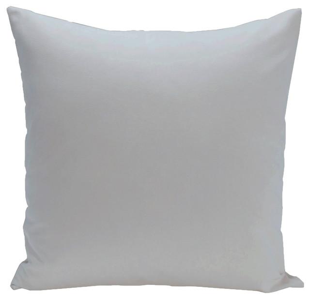 """Solid Color Decorative Pillow, Soft Blue, 16""""x16""""."""