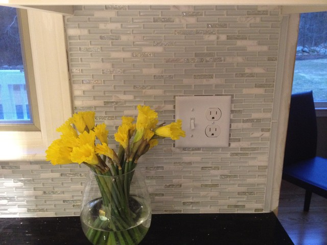 glass & marble backsplash - modern - boston -fowler tile design