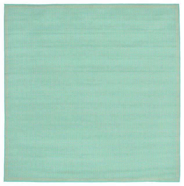 Liora Manne Terrace Texture Indoor/outdoor Rug, Blue, 7&x27;10 Square.