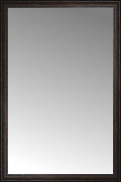 36 X54 Custom Framed Mirror Distressed Brown