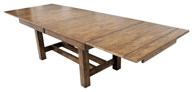 a-america mariposa extendable butterfly dining table, rustic whiskey Butterfly Dining Table