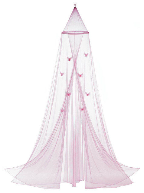 Pink Butterfly Bed Canopy.