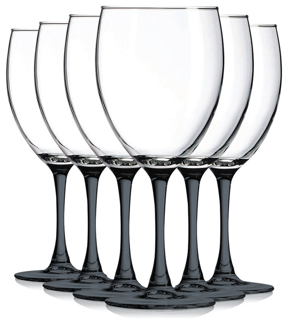 Nuance Wine Glasses With Beautiful Colored Stem Accent 10