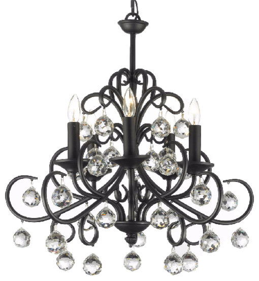 Gallery versailles wrought iron and crystal light chandelier versailles wrought iron and crystal light chandelier traditional chandeliers mozeypictures Choice Image