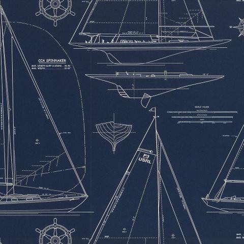 Chesapeake Novelty - White Line On Navy