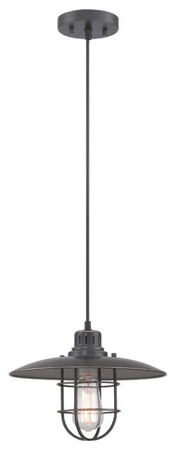 Pendant Lamp, D.brz Metal Lantern, E27 Vintage Bulb 75w.