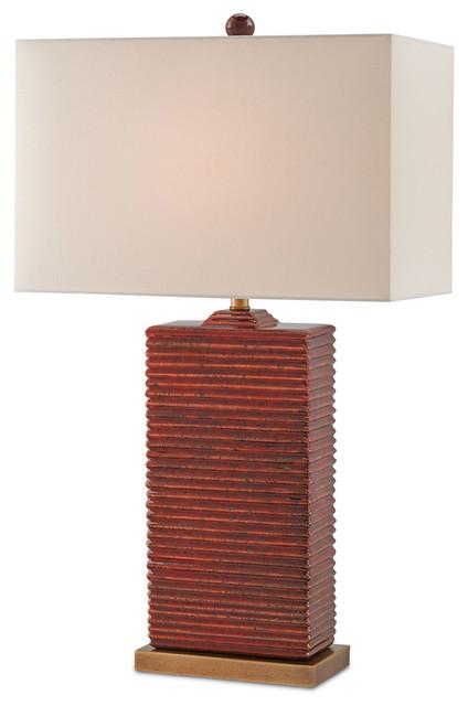 currey u0026 co archer red ceramic table lamp