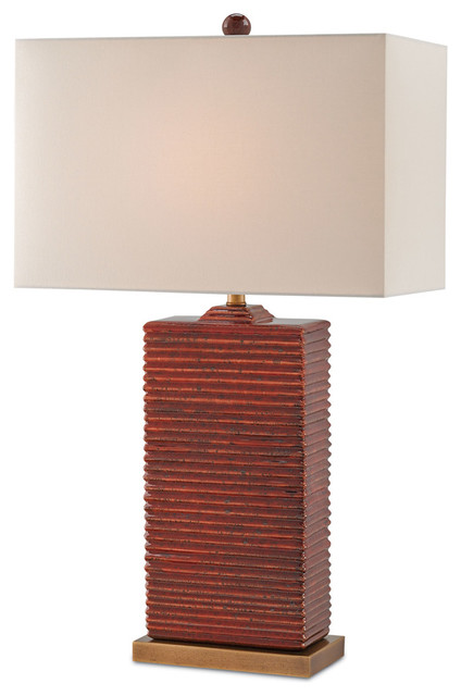 Currey U0026 Co 6912 Archer Red Ceramic Table Lamp Transitional Table Lamps