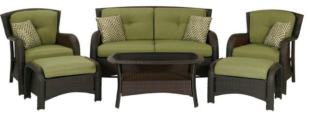 Strathmere 6-Piece Lounges Set, Cilantro Green