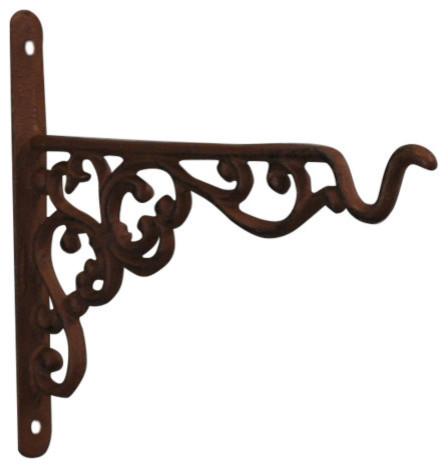 Fallen Fruits Cast Iron Decorative Hanging Basket Bracket, 20 cm