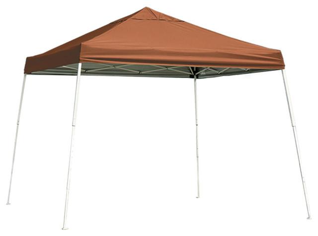 Shelterlogic Pop-Up Canopy Slant Leg 10&x27;x10&x27; With Roller Bag Teracotta.