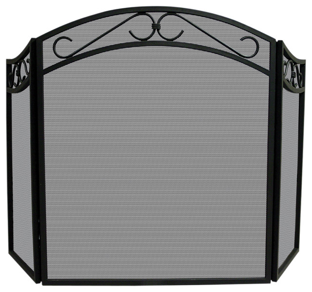 3 Fold Wrought Iron Screen.
