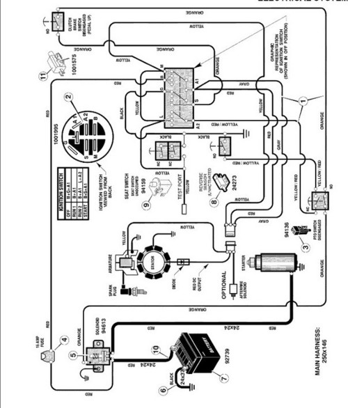 Craftsman Rider Safety Switches on craftsman lawn mower ignition switch wiring diagram