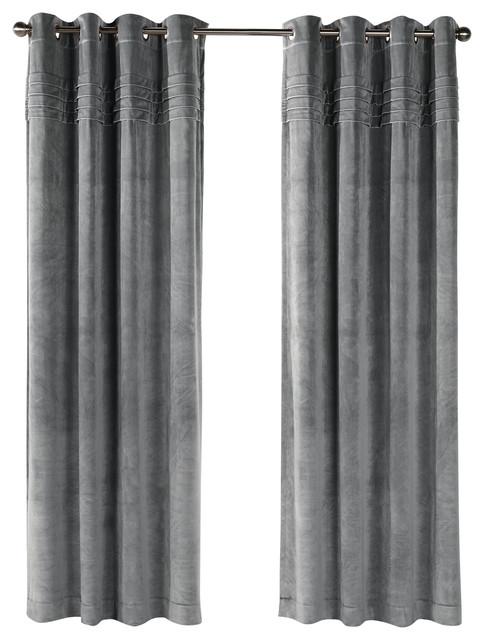 Victorian Grommet Panel, Gray, 50x84.