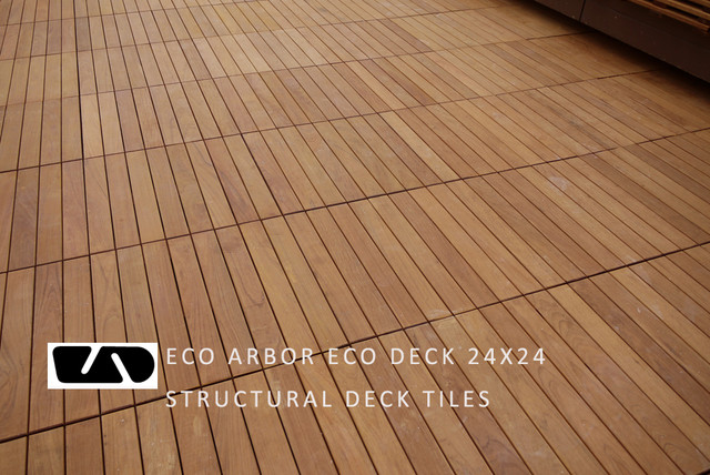 Hotel Decking With Eco Decks Ipe Deck Tiles Contemporary