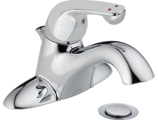 Chrome Delta Commercial 516LF-HDF Classic Single Handle Centerset Bathroom Faucet