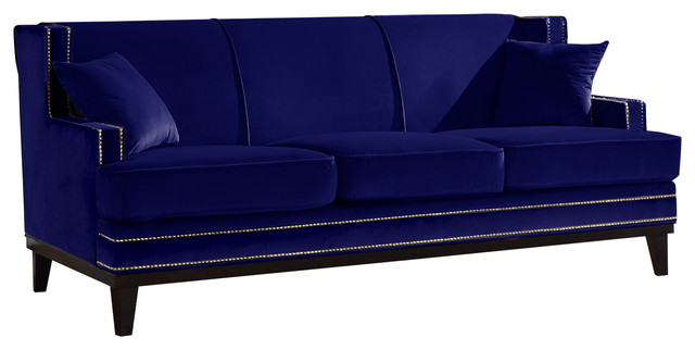 blue velvet sectional sofa for sale classic trim accent living room sofas navy royal uk