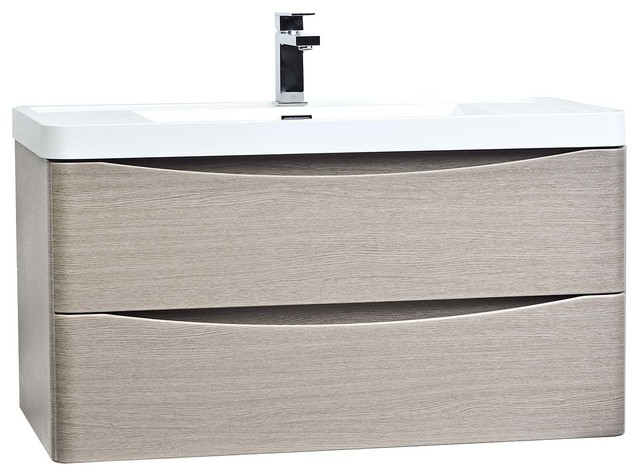 Conceptbaths Merida 35 5 Wall Mount Bathroom Vanity Light Pine Modern Vanities And Sink Consoles By