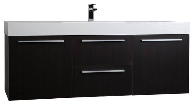 59 Wall Mount Contemporary Bathroom, 59 Bathroom Vanity Single Sink