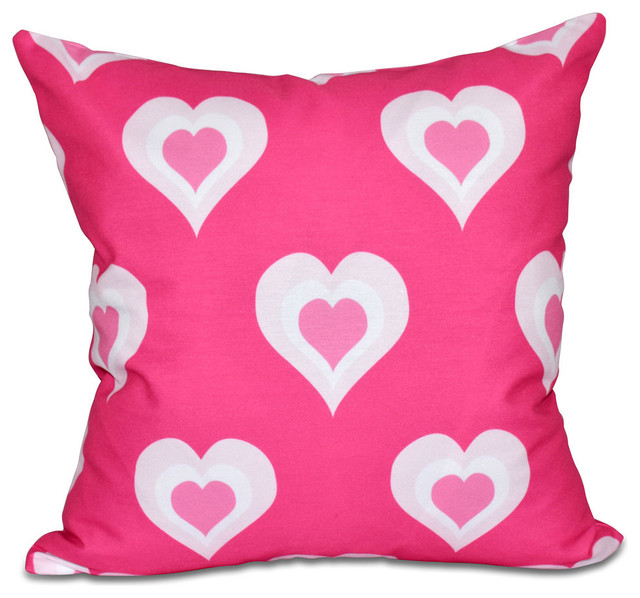 Decorative Valentine Pillows : E by Design Valentine Print Pillow - Decorative Pillows Houzz