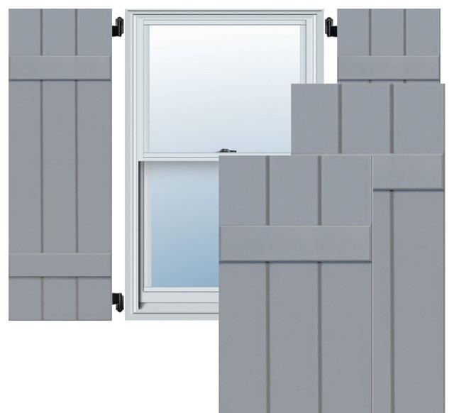 Ekena Millwork 12 X 67 Exterior 3 Board Composite Wood Board N Batten Shutters Black
