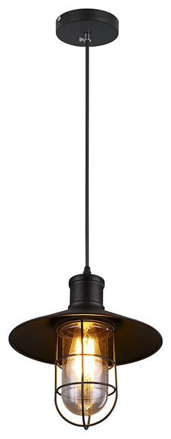 Cage Pendant Light Black industrial-pendant-lighting  sc 1 st  Houzz & Cage Pendant Light Black - Industrial - Pendant Lighting - by ... azcodes.com