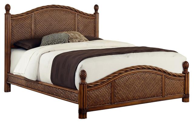Raleigh Wooden Bed, Queen.