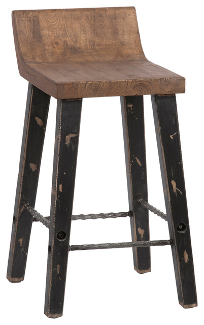 Ruston Low-Back Counter Stool.