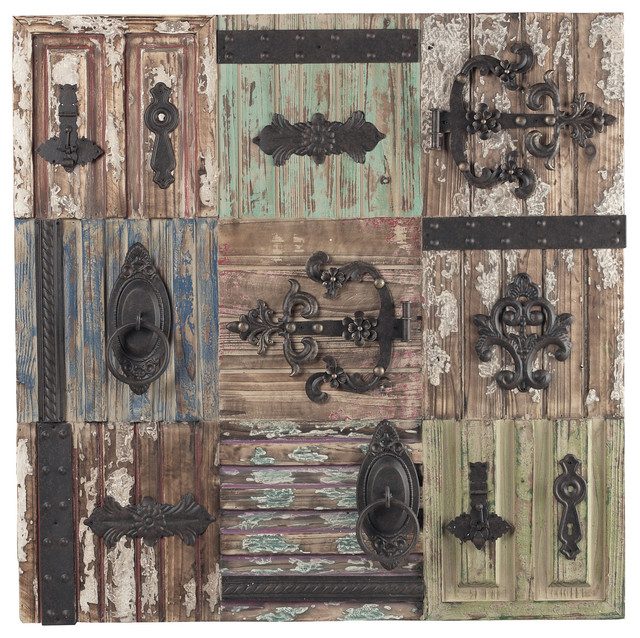 Antique door hinge wall decor farmhouse wall for Antique door decoration